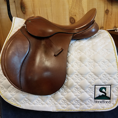 """County Eventer Close Contact Saddle-17.5""""-XWide-Brown"""