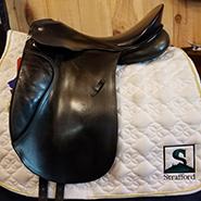 """Passier Optimum Dressage Saddle-17.5""""-Medium-Black"""