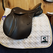 """Thorowgood T8 All Purpose Synthetic Saddle-18.5""""-Adjustable-Brown"""