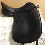 "Prestige Top Dressage Saddle-18""-Medium Wide-Black"
