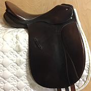"Passier PsBaum Nicole Dressage Saddle-16.5""-Medium-Brown"