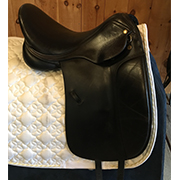 "Thornhill Pro-Trainer Dressage Saddle-17.5""-MediumWide-Black"