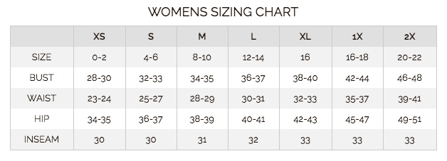 Kerrits Top Size Chart