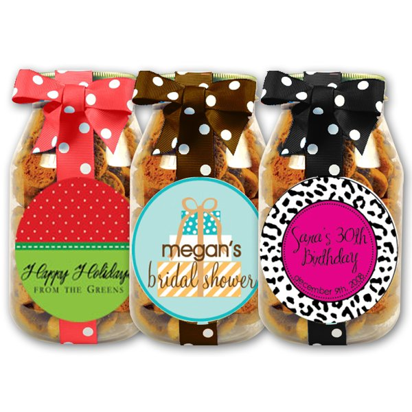 Personalized Chocolate Chip Cookies - 10 oz. Quart Jars - Set of 12