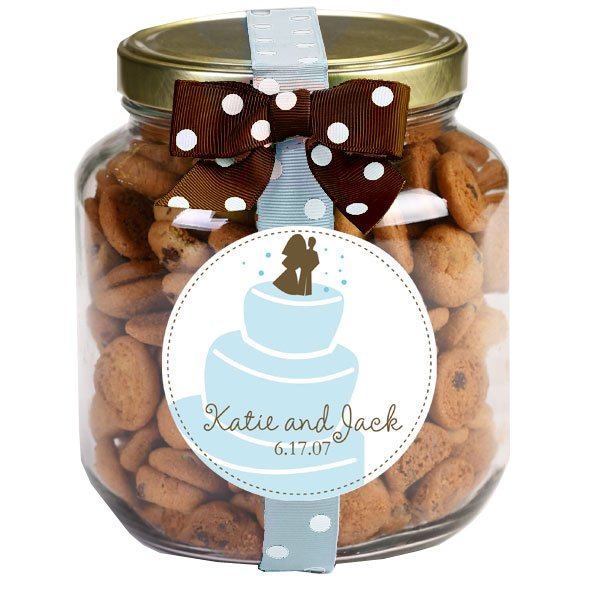 Personalized Chocolate Chip Cookies - 20 oz. Half-Gallon Jars - Set of 6