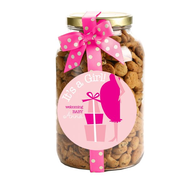 Personalized Chocolate Chip Cookies - 40 oz. Gallon Jars