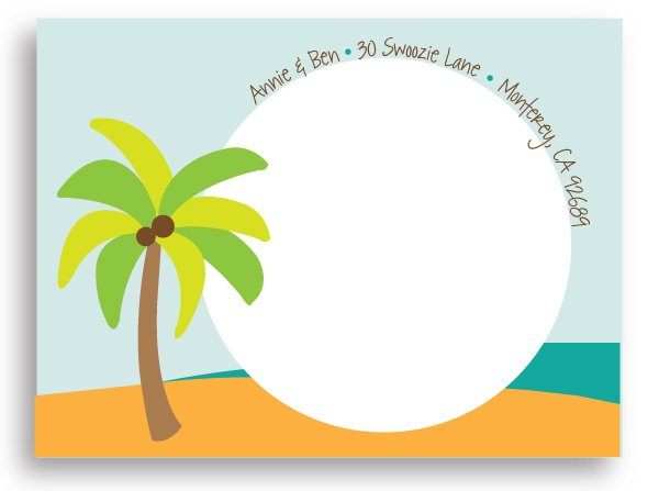 Swoozie's Stickers Bridal - Beach Wedding - Shipping Label