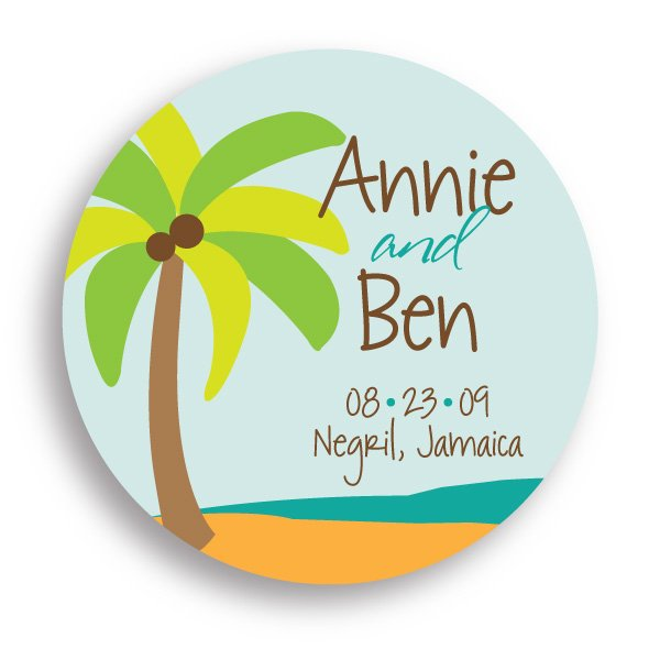 Swoozie's Stickers Bridal - Beach Wedding - Large Circle
