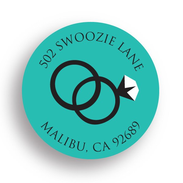 Swoozie's Stickers Bridal - Wedding Rings - Small Circle Label