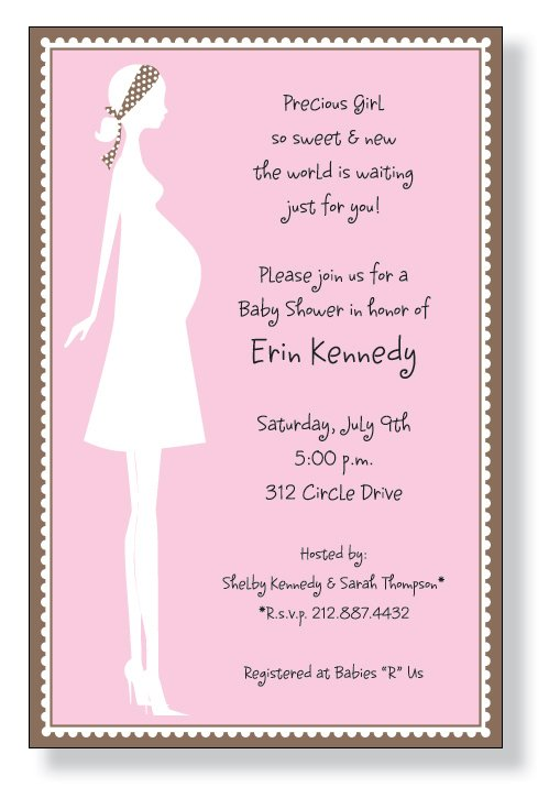 Mom Baby Girl Invitation