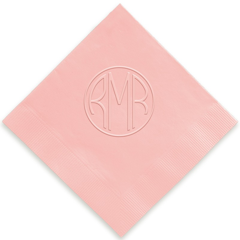 Delavan Monogram Embossed Beverage Napkins