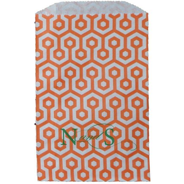 Paper Favor Bag Honeycomb Orange