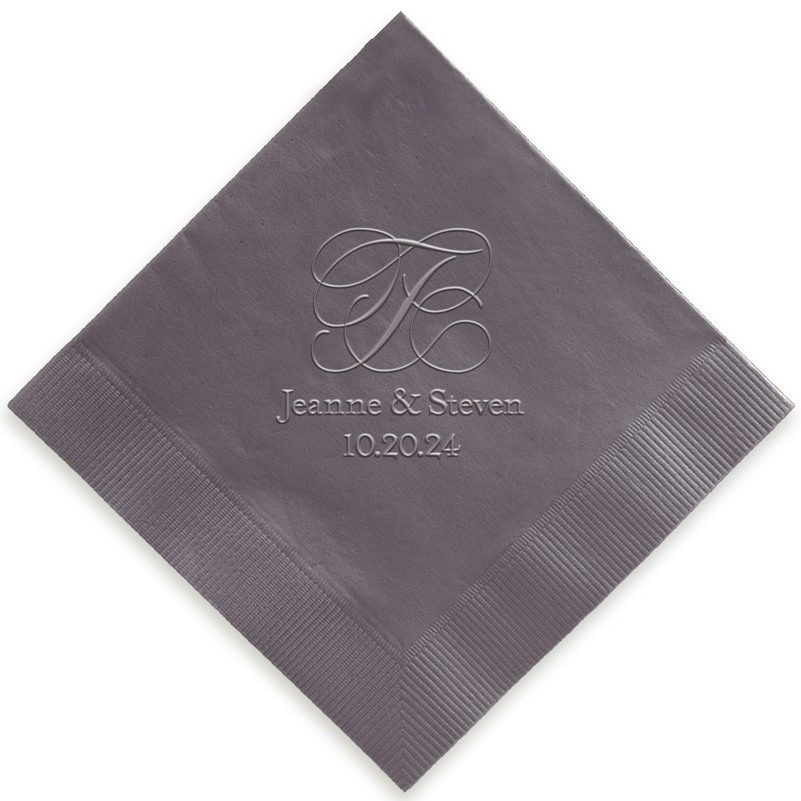 Estate Embossed Beverage Napkins