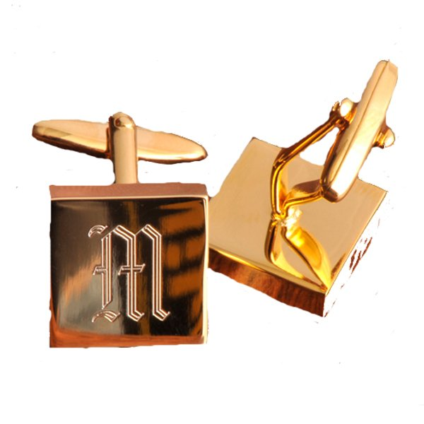Brass Square Cuff Links