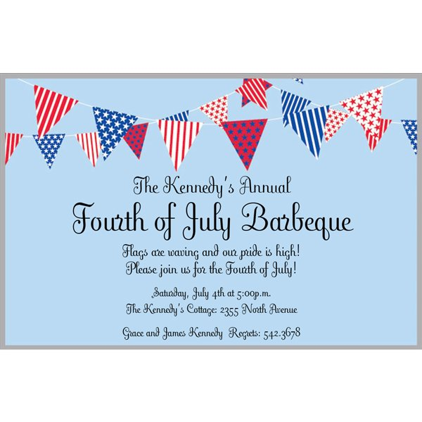 July Banner Invitation