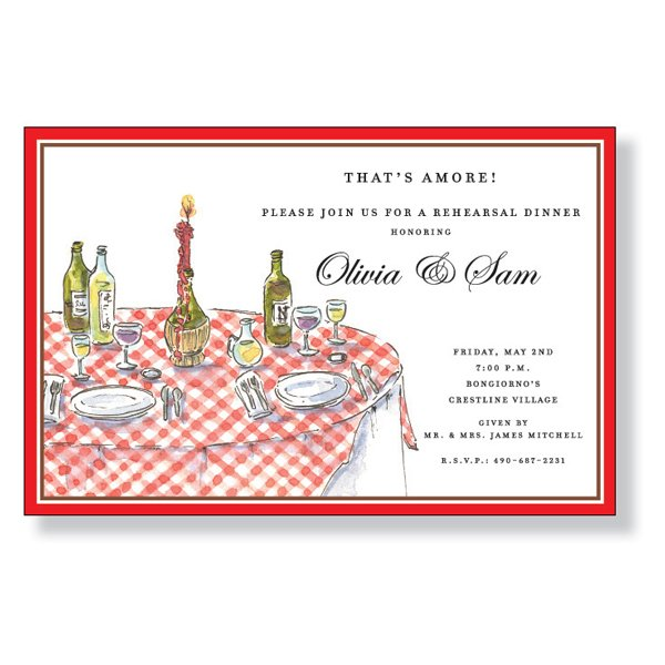 Italian Table Invitation