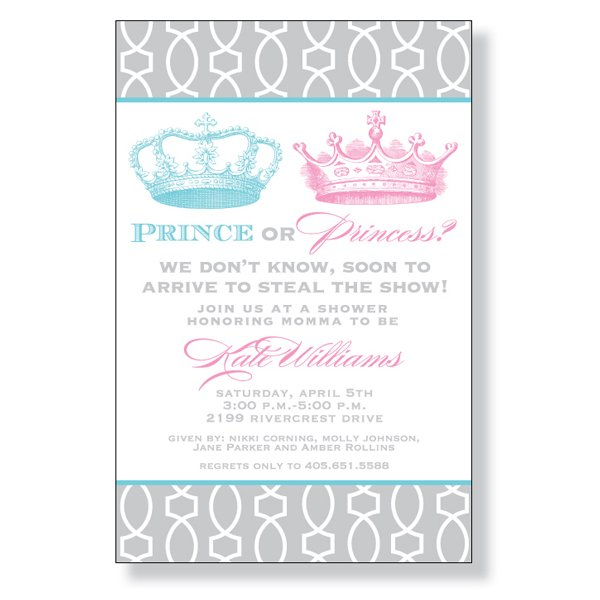 Prince or Princess Invitation