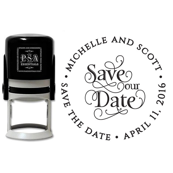Peel & Stick Stamper - Michelle Save Our Date