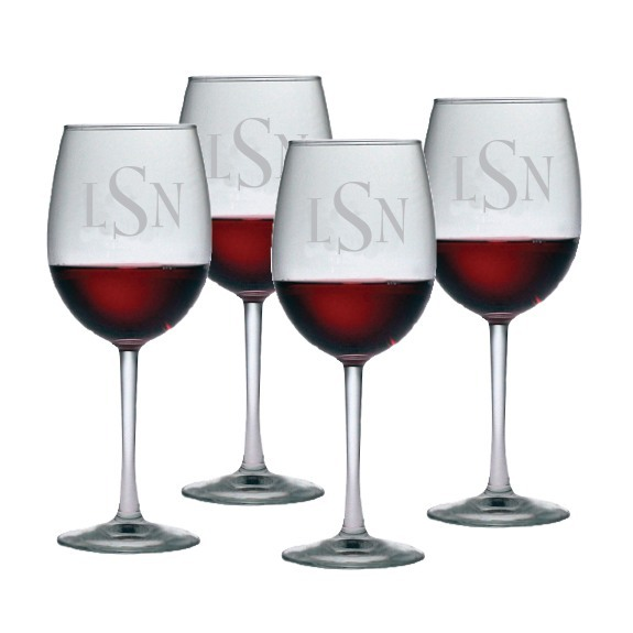 Personalized All Purpose Wine Glass Set