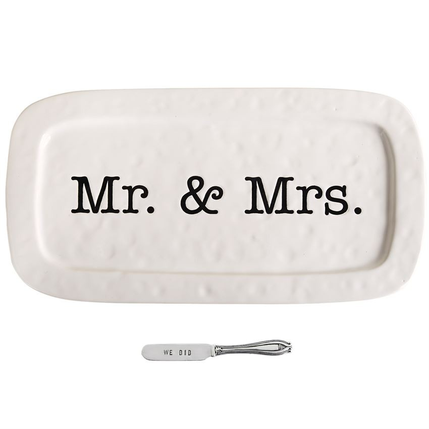 Mr and Mrs Hostess Tray Set