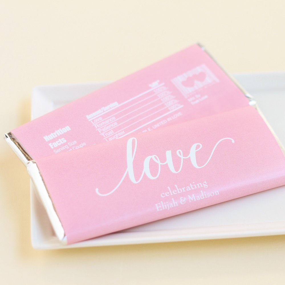 Personalized Wedding Hershey's Chocolate Bars