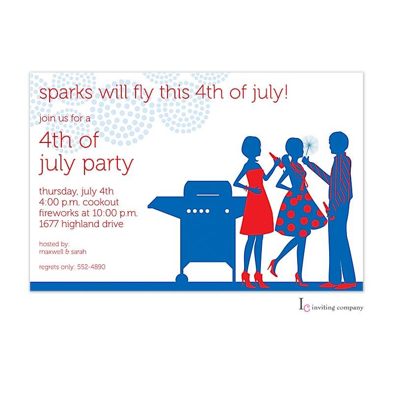 July BBQ Invitation