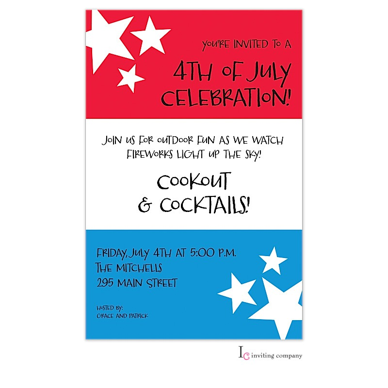 July Stripes Invitation
