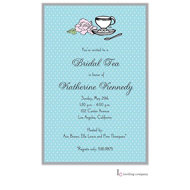 Teacup Peony Invitation