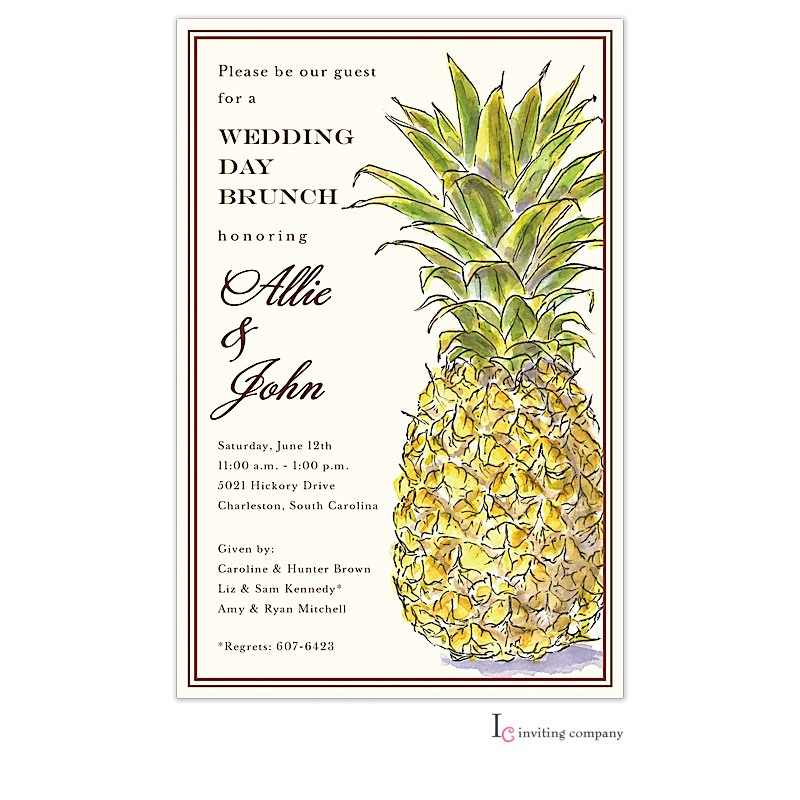 Classic Pineapple Invitation