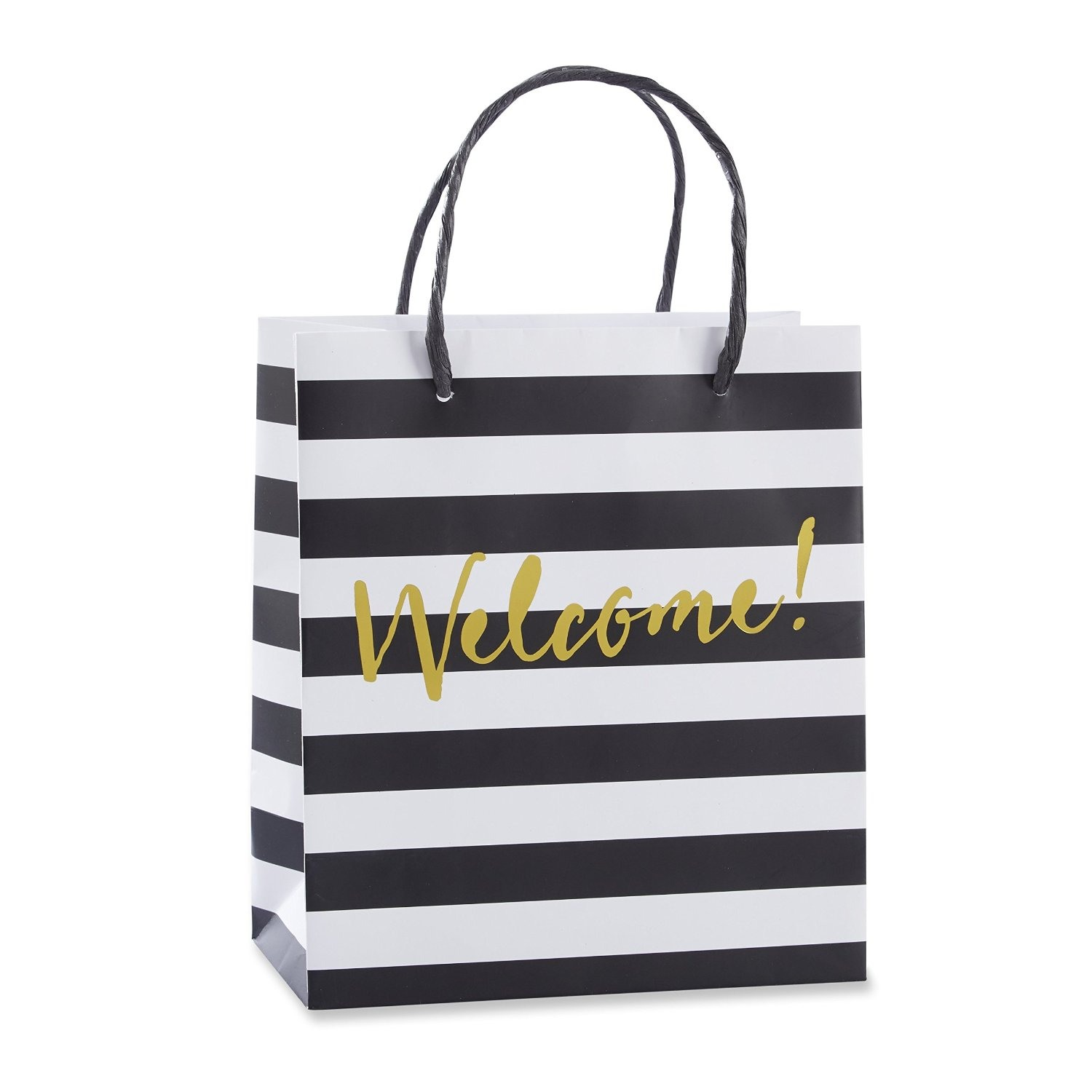 Classic Black and White Striped Welcome Bags