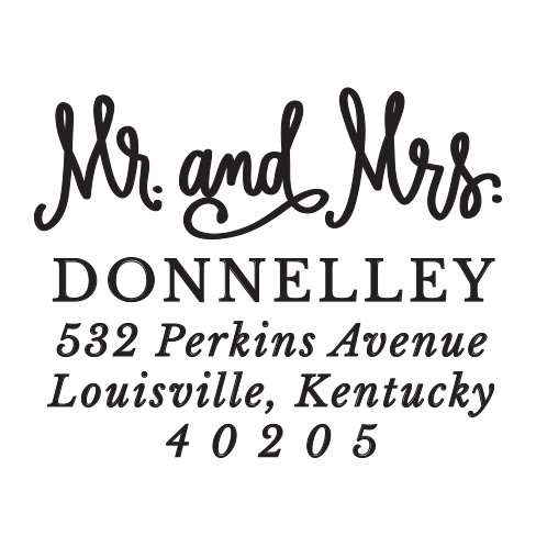 Peel & Stick Switchable Round Stamper - Mr. and Mrs.