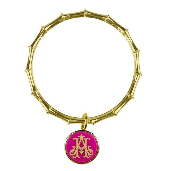 Moon and Lola ML xx EM Bamboo Charm Bangle Interlocking