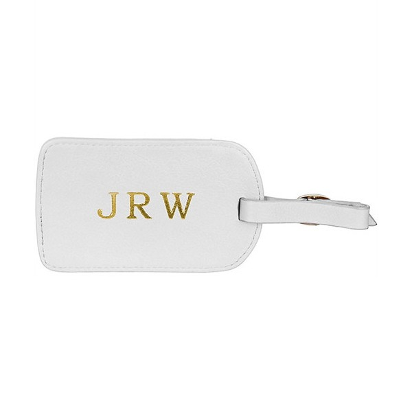 BLVD - White Amelia Luggage Tag