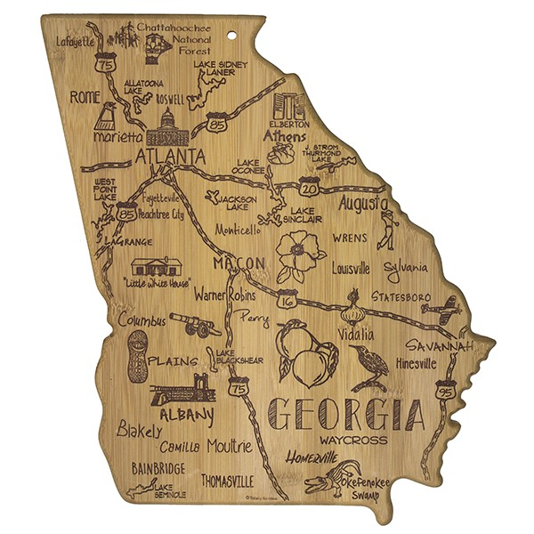 Destination Georgia Bamboo Serving Board