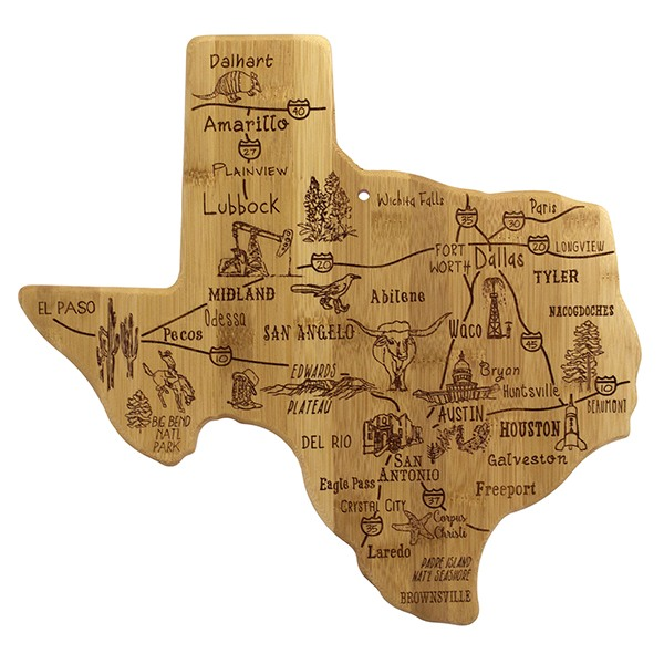 Destination Texas Bamboo Serving Board