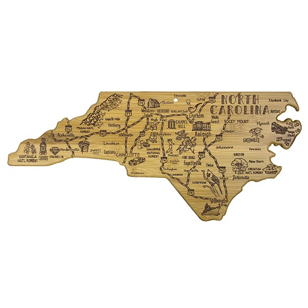 Destination North Carolina Bamboo Serving Board