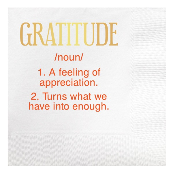 Gratitude Beverage Napkins