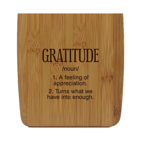 Gratitude Small Bamboo Cutting Board