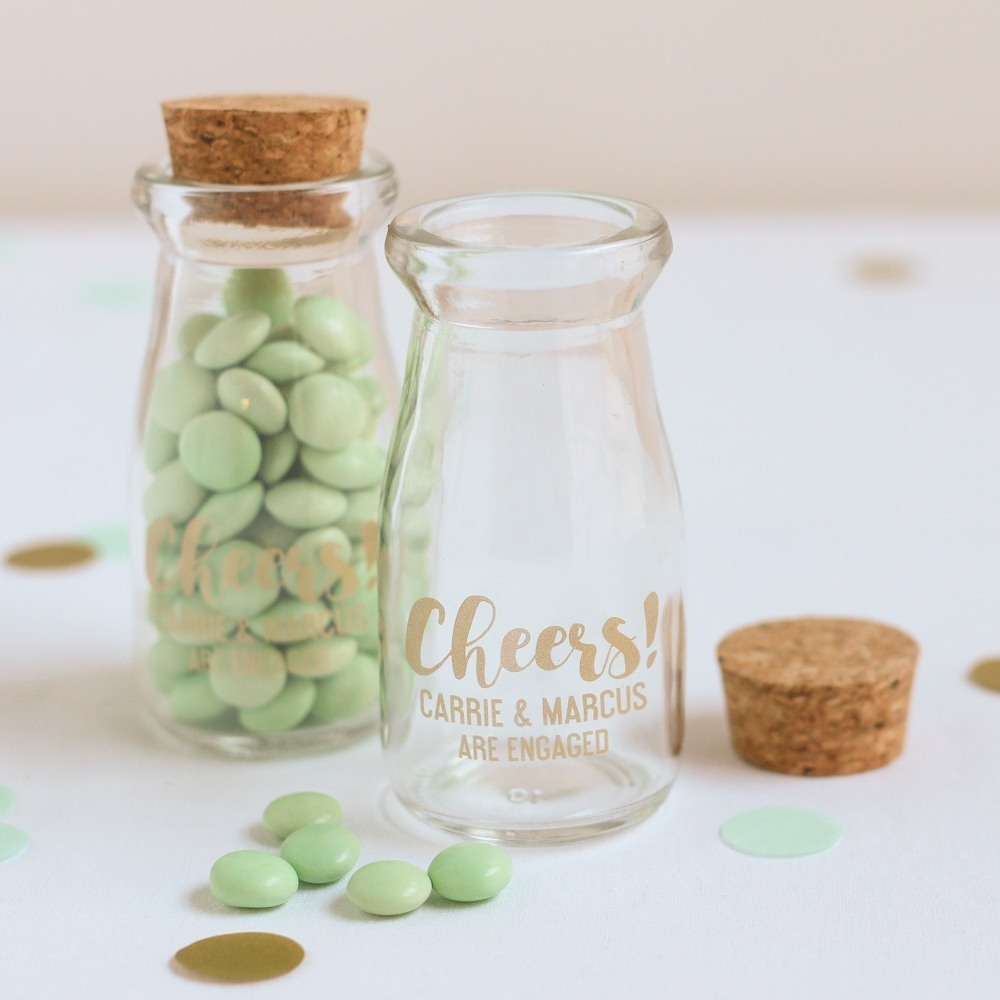 Personalized Bachelorette Vintage Milk Jars