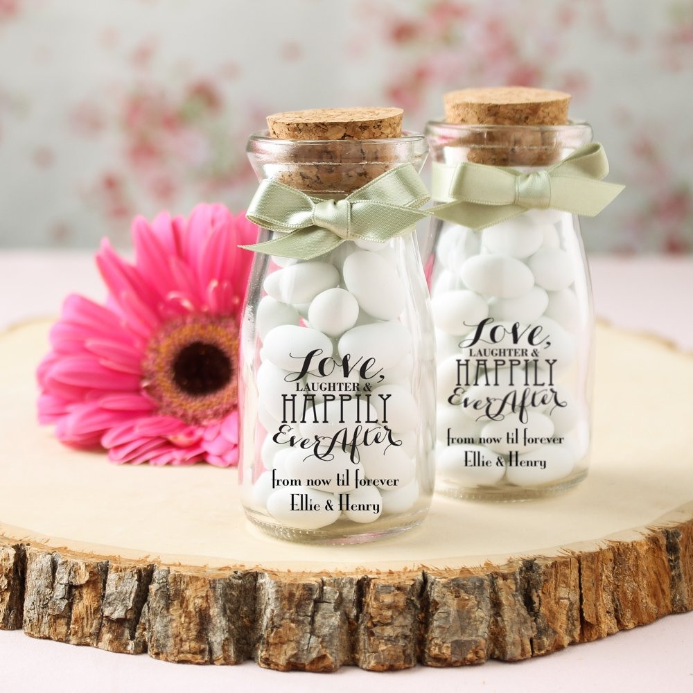 Personalized Wedding Vintage Milk Jars