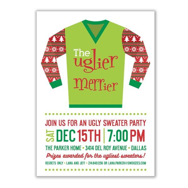 Uglier the Sweater Invitation
