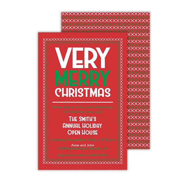 Very Merry Christmas Digital Invitation