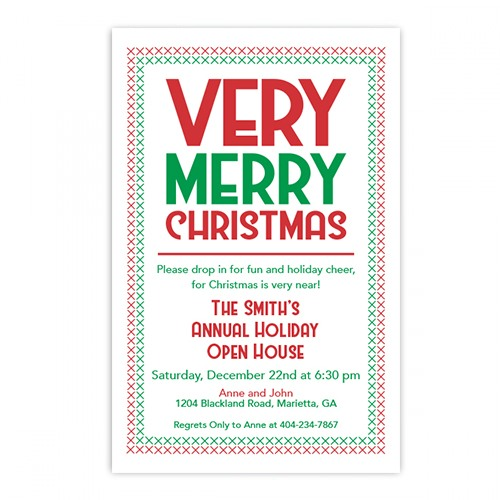 Very Merry Christmas Invitation