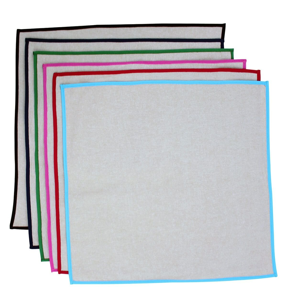 Jute Kitchen Napkins with Color Trim