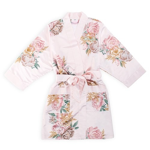 Blush Blissful Blooms Silky Kimono Robe