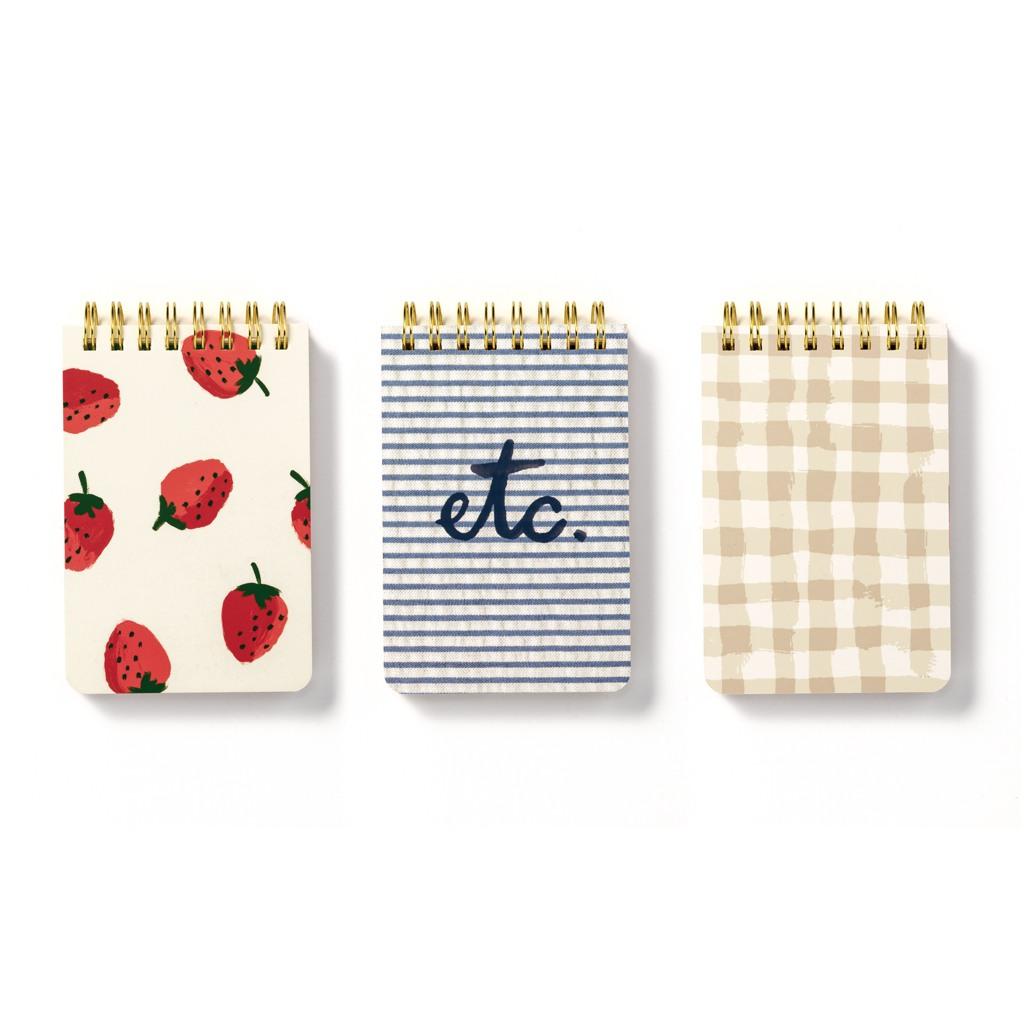 kate spade new york strawberries spiral notepad set