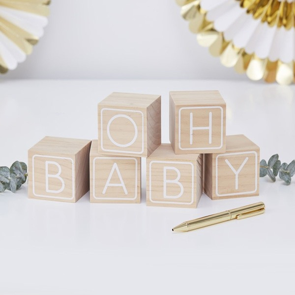 Oh Baby Building Block Guest Book