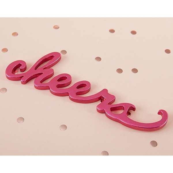 Pink Cheers Bottle Opener