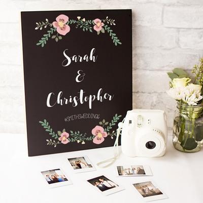 Personalized Wedding Chalkboard Sign