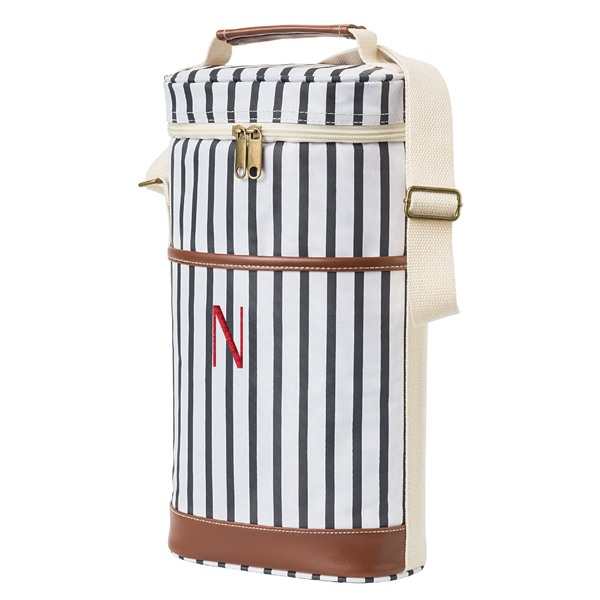 Personalized Striped Wine Cooler